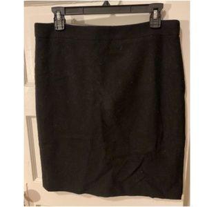 J. Crew Black Wool Blend Pencil Skirt